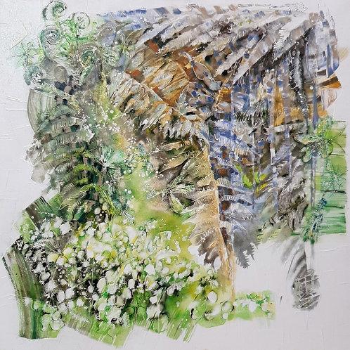 """Картина """"Цветок папоротника"""", 90 х 90 см, холст, акрил"""