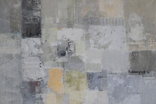 """Картина """"Жасминовый чай"""", 70 х 100 см, холст, акрил, смешанная техника"""