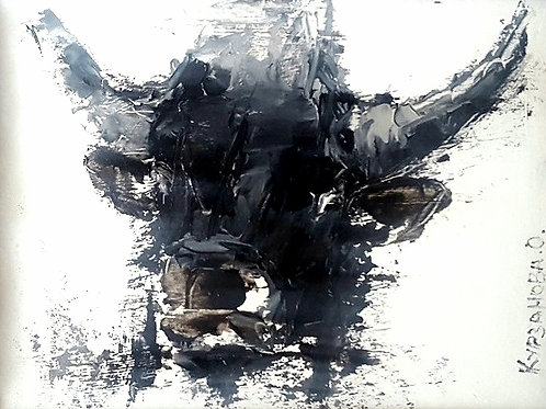 "Картина ""Молочный"", 15 х 20 см, картон, масло, мастихин"