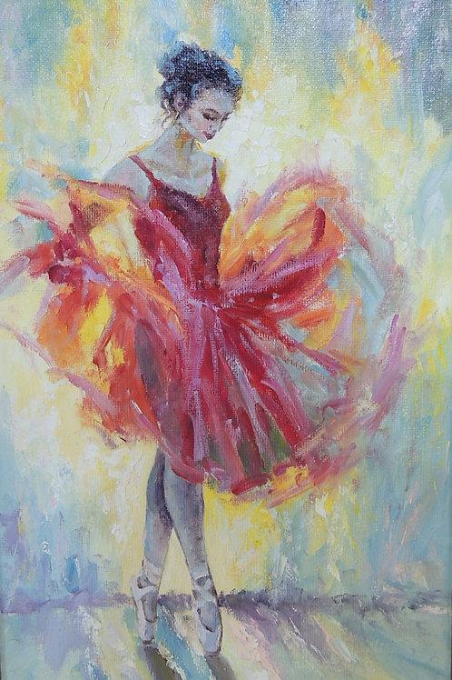 """Картина """"Балерина"""" 30 х 20, холст, масло"""