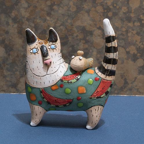 "Статуэтка ""Котик"", керамика, 13 см."