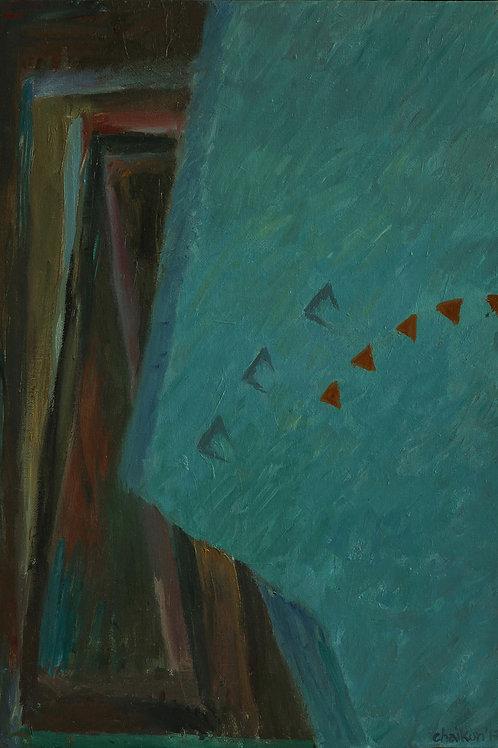 """Картина """"Освобождение"""", 50 х 35 см, грунтованный картон, масло"""