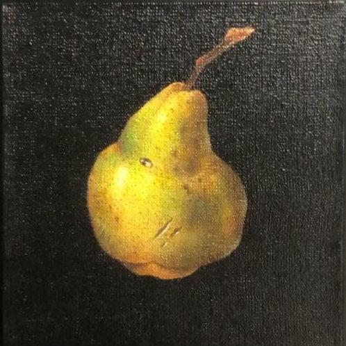 "Картина ""Груша"", 18 х 18 см, холст, смешанная техника"