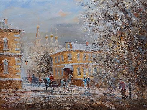 """Картина """"Зимний день"""", 60х80, холст, масло"""