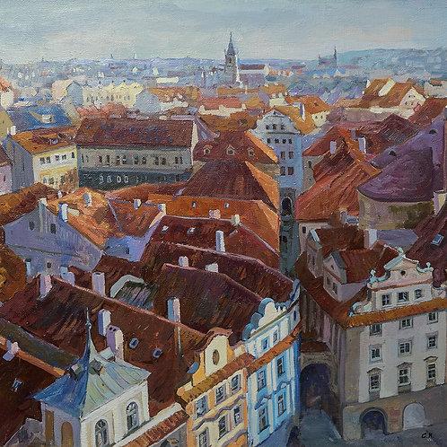 """Картина """"Прага"""", 50х55, холст, масло"""