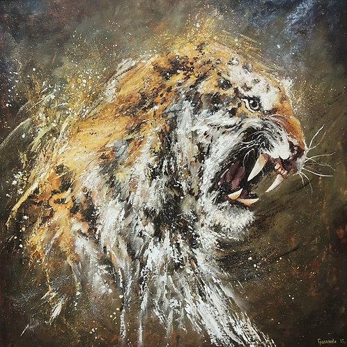 """Картина""""Тигр"""" 50 х 50, холст, масло"""