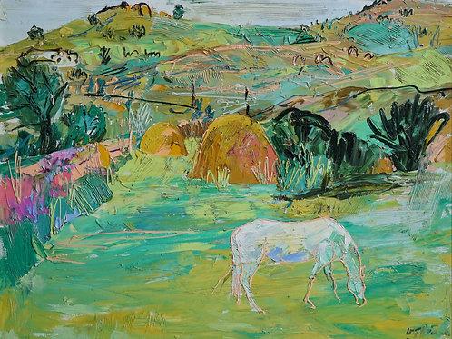 "Картина ""Горный пейзаж"", 60 х 80 см, холст, масло"