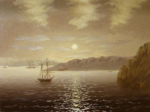 Картина «Лунная ночь» Копия И. Айвазовский, 60 х 45 см, холст, масло