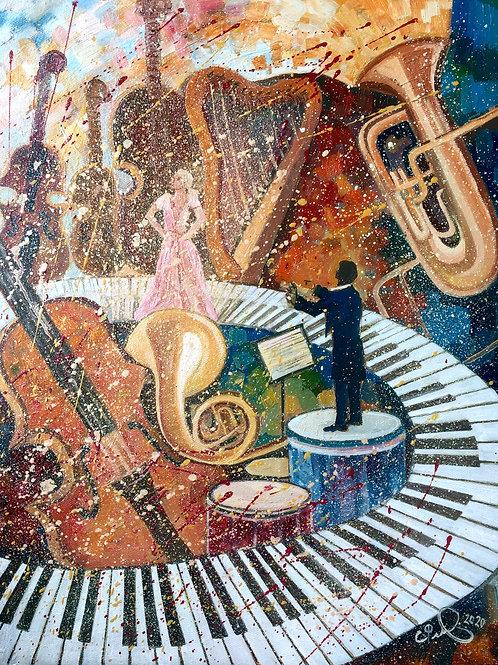 "Картина ""Сила музыки"", 50 х 40 см, холст, масло"