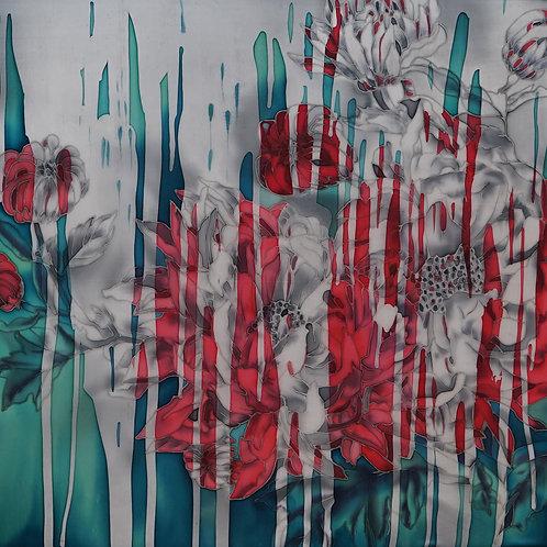 """Картина """"Живая вода"""", 55х55, батик"""