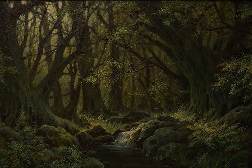 """Картина """"Лесной ручей"""", 40 х 60 см., холст, масло"""