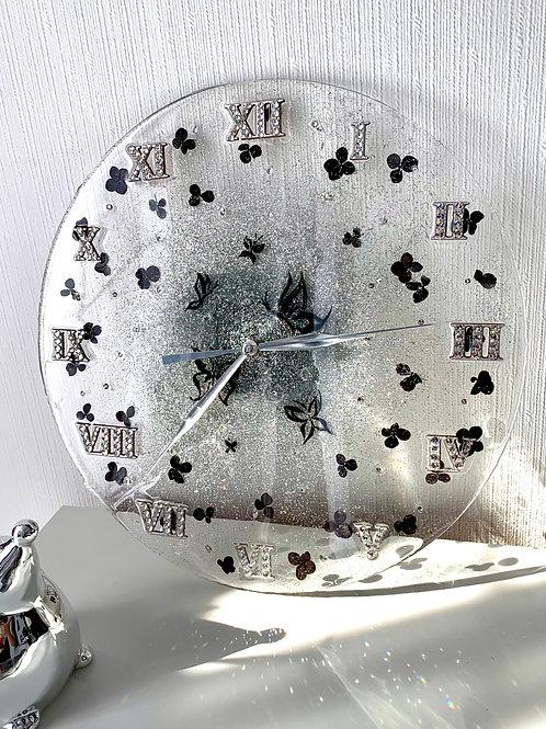 Часы «Лето в саду», д=30 см, смола, цветы гортензии