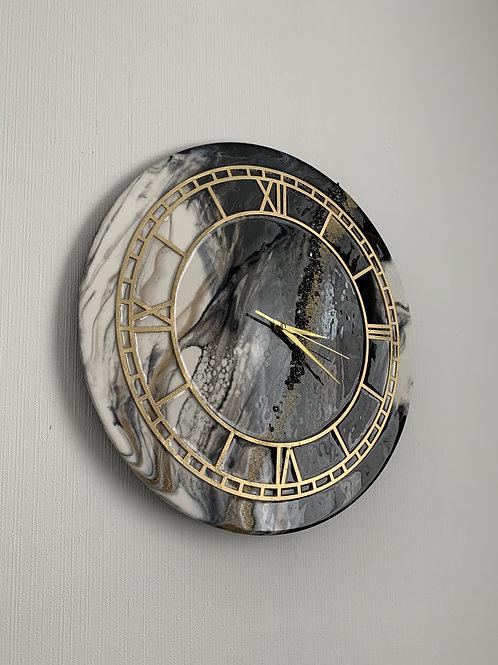 Часы «Мечтатель», д=45 см, смола, песок, кварцевый механизм