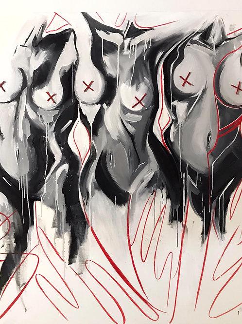 """Картина """"Самоцензура"""", 120 х 100 см, холст, масло"""