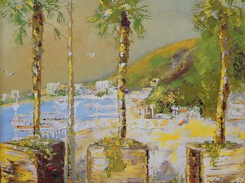 "Картина ""На Черном море"", 40х50, холст, масло"