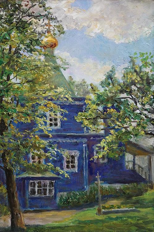 """Картина """"Храм в Дрездене"""", 50 х 30 см., холст, масло"""