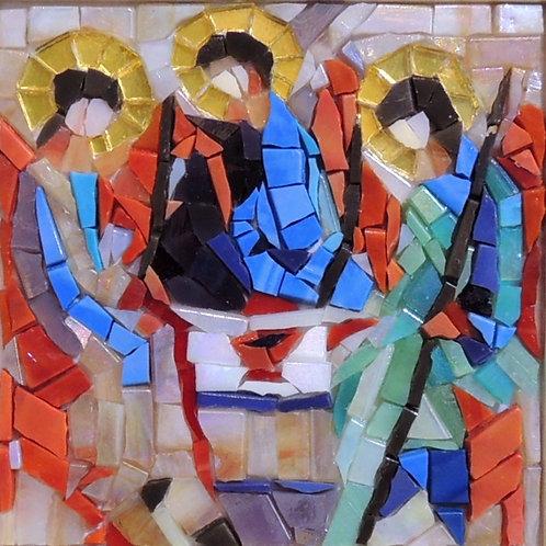 "Картина ""Рублев. Троица"", мозаика, 10 х 10"