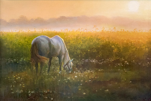 "Картина ""Утренняя тишина"", 25 х 35 см, холст, масло"