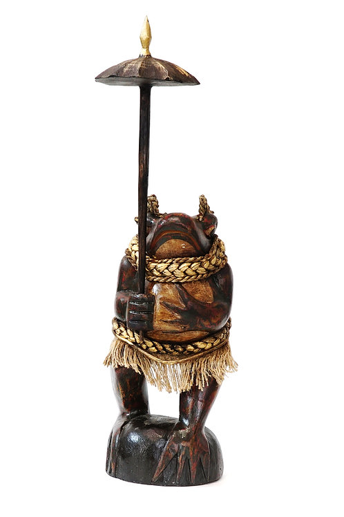 """Статуэтка """"Жаба под зонтиком"""" , 52 х 15 см., дерево (Индонезия)"""