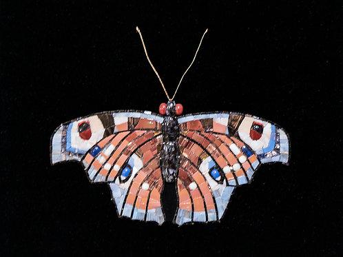 "Картина ""Бабочка. Павлиний глаз"", 50х55, мозаика"