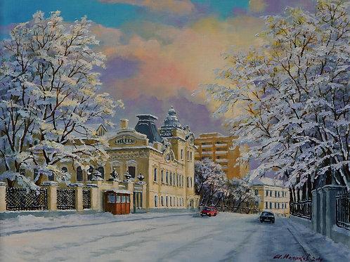"Картина ""Улица Воронцово Поле"", 40 х 50 см., холст, масло"