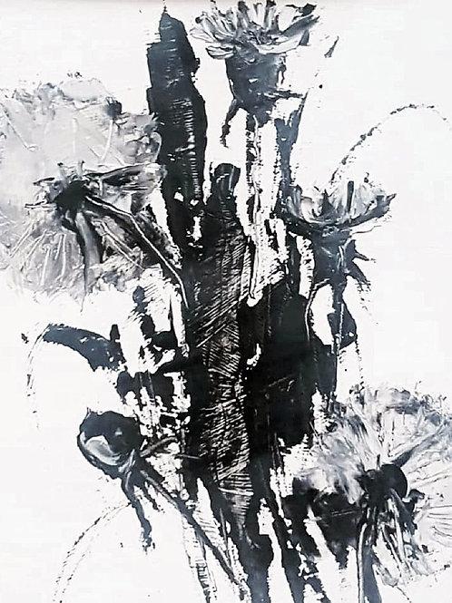 """Картина """"Одуваны"""", 20 х 15 см, картон, масло, мастихин"""