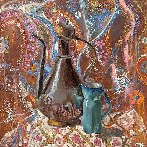 "Картина ""Сны кувшина Алладина"", 60 х 60 см, холст, масло"