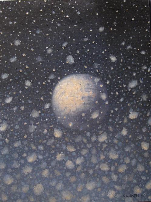 """Картина """"Снежок"""", 80 х 70 см, холст, масло"""