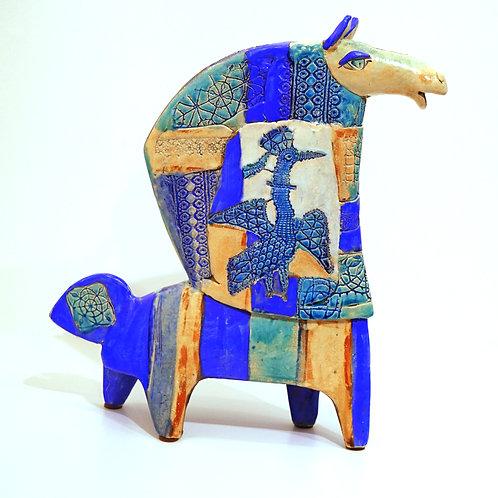"Cкульптура ""Конь"", 45 х 40 см., керамика"
