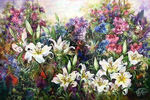 """Картина """"Райский сад"""", 120 х 80см, холст, масло"""