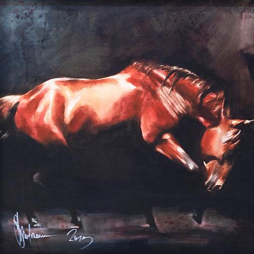 """Картина """"2 из серии Кони"""", 70 х 70 см, холст, масло"""