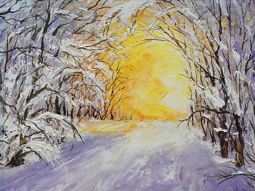 """Картина """"Зима"""", 18х24, холст, масло"""