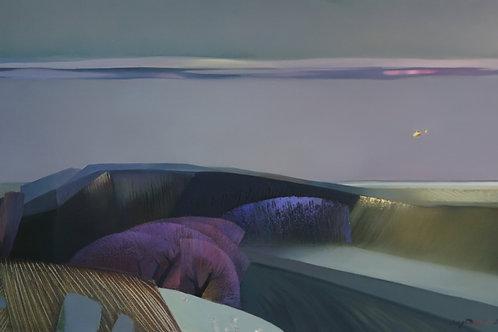 """Картина """"Желтый вертолет"""", 60х100, холст, масло"""