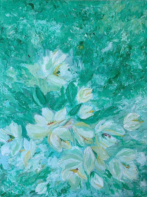 """Картина """"Нежный цвет"""", 90 х 70 см, холст, масло"""