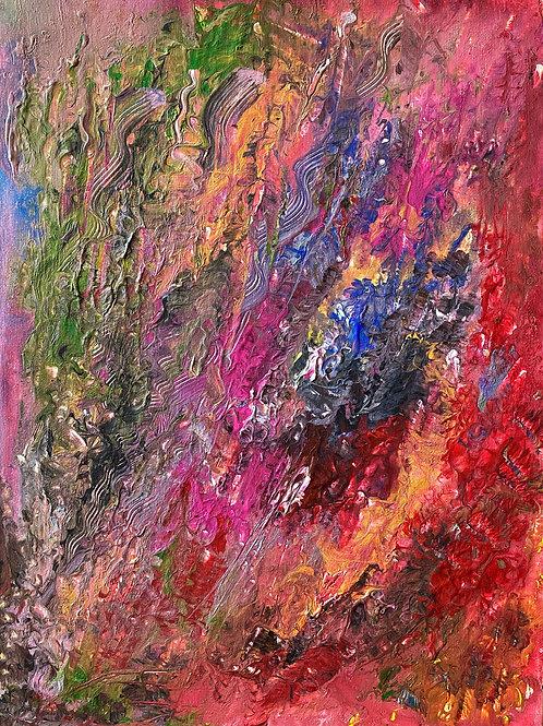 """Картина """"Бурные эмоции внутри"""", 30 х 40см, холст, акрил"""