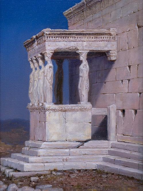 """Картина """"Портик кариатид храма Эрехтейон"""", 40х30, холст, масло"""