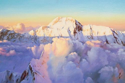 """Картина """"Горы"""", 50 х 100 см, холст, масло"""