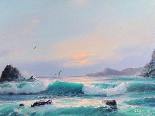 "Картина ""Море"", 30 х 40 см, холст, масло"