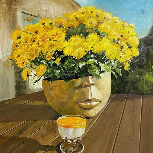 "Картина ""На веранде"", 80 х 70 см, холст, масло"