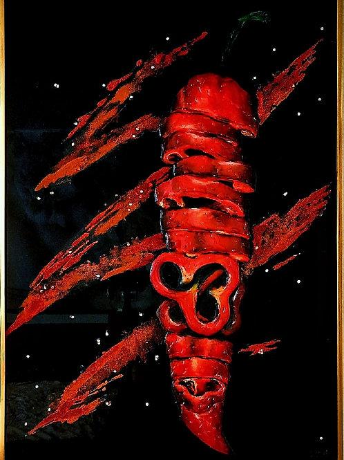 """Картина """"Перец"""",  70 х 50 см, эпоксидная смола"""