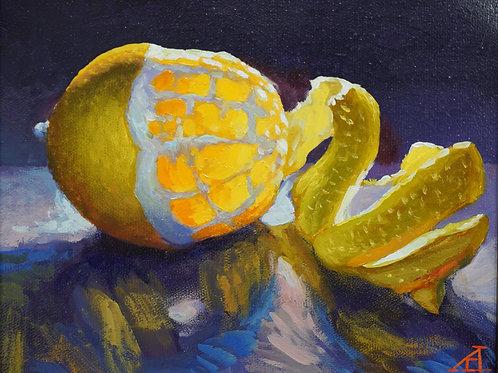 """Картина """"Лимон"""", 18 х 24 см, холст, масло"""