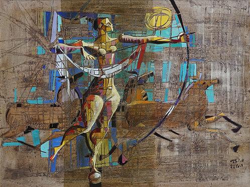 """Картина """"Богиня охоты"""", 60 х 80 см, холст, масло"""
