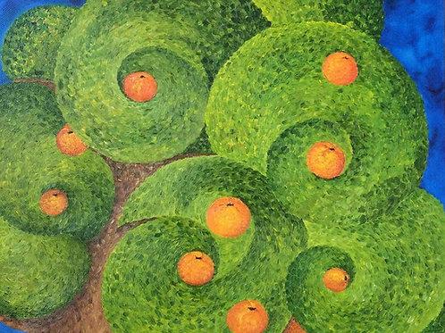 """Картина """"Мандариновое дерево"""", 50 х 60 см, холст, масло"""
