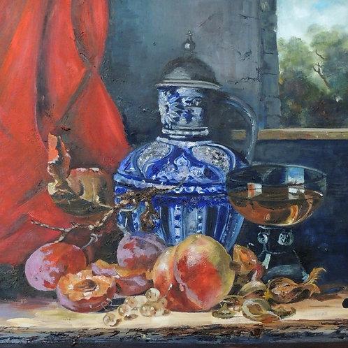 "Картина ""Голландский натюрморт"", 50 х 60 см, холст, масло"