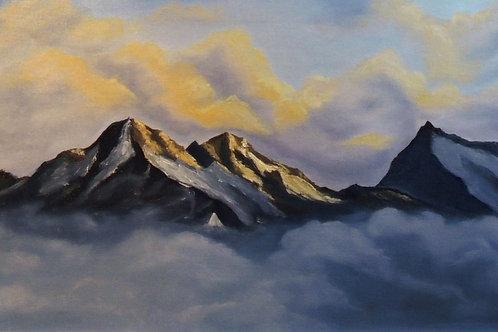 """Картина """"Горы"""", 30 х 50 см, холст, масло"""
