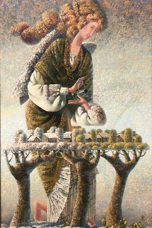 """Картина """"Весенний дождик"""", 80 х 50 см, холст, масло"""