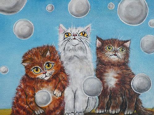 """Картина """"Три товарища"""", 30х40, холст, масло"""