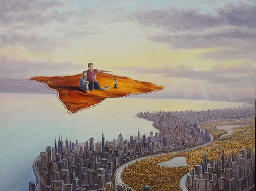 "Картина ""Сказки большого города"", 50 х 60 см., холст, масло"