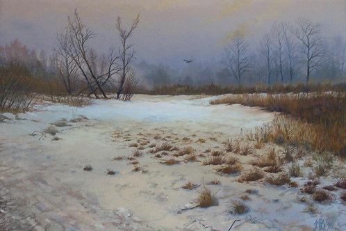 "Картина ""Утро ранней весны"", 85 х 60 см, холст, масло"