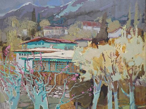 """Картина """"Весна в Оползнево"""", 60 х 70 см., холст, масло"""